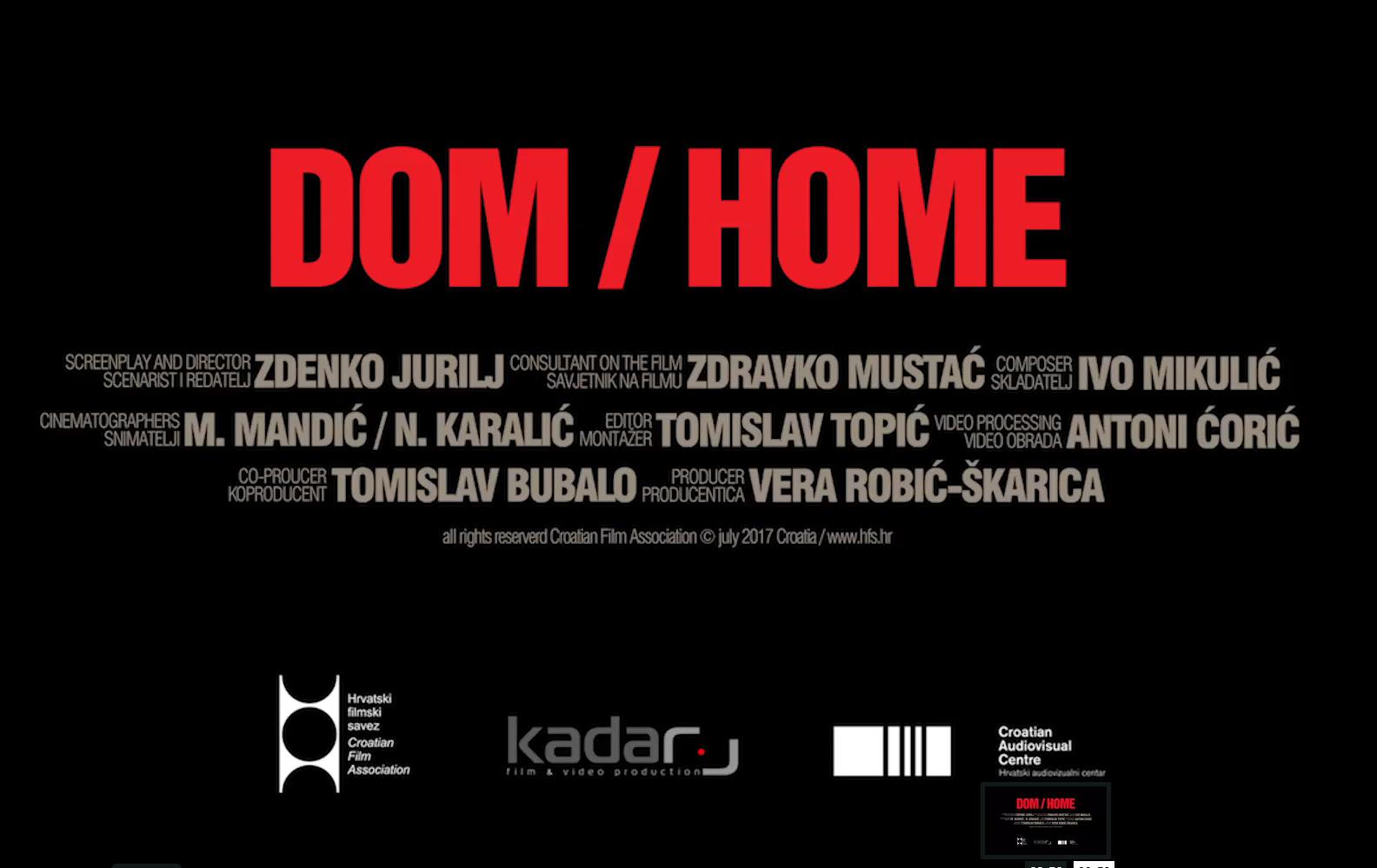 Peru: Juriljev film DOM osvojio nagradu u Peruu