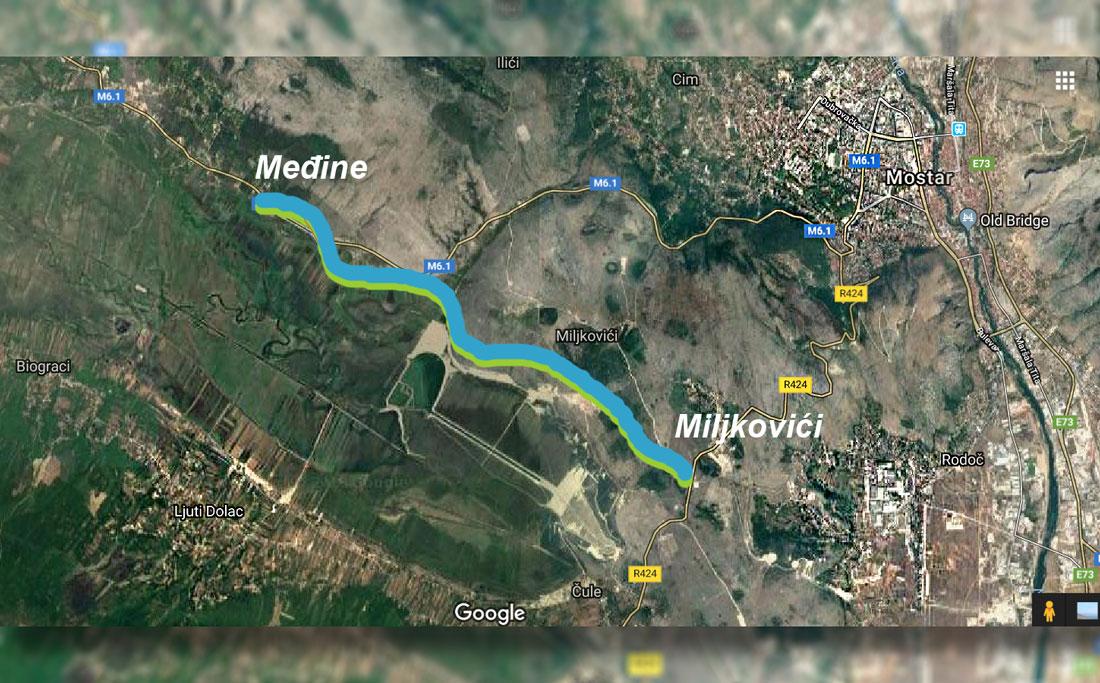 Cesta Međine – Miljkovići, nazire se završetak radova